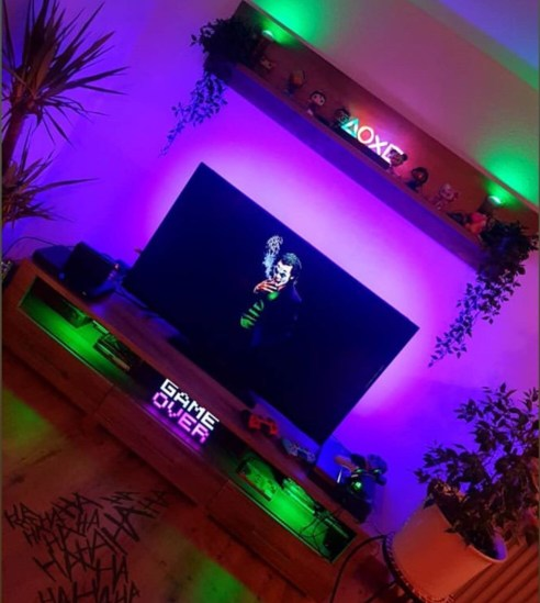 led light strips for game room