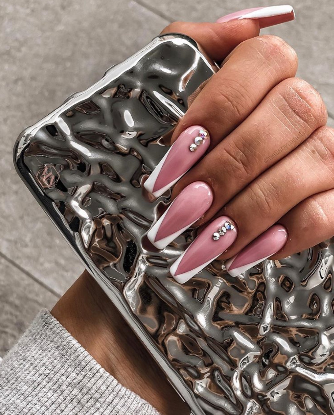 french tip nails