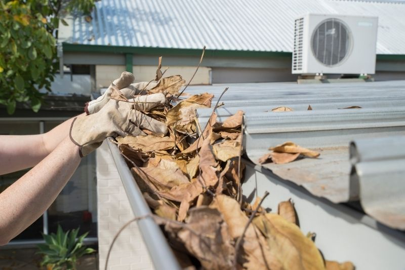 home improvement idea - clean the gutters