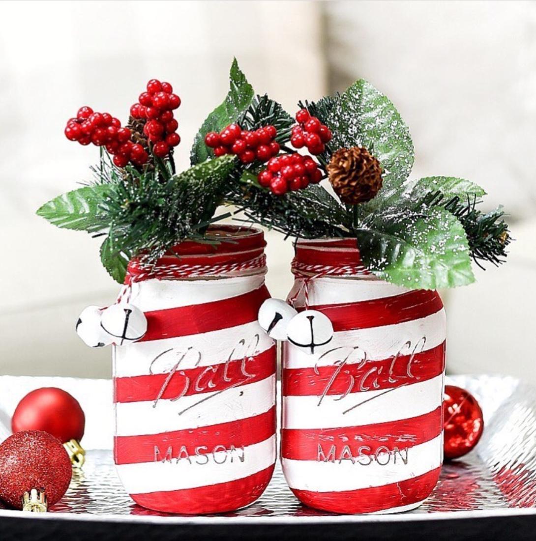 mason jar christmas centerpieces