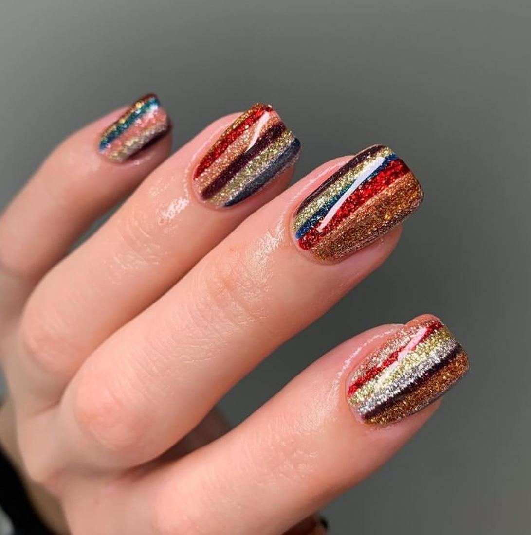 shimmering nails
