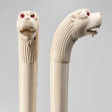 The heads of the ivory staffs. Royal Collection Trust/© Her Majesty Queen Elizabeth II 2017