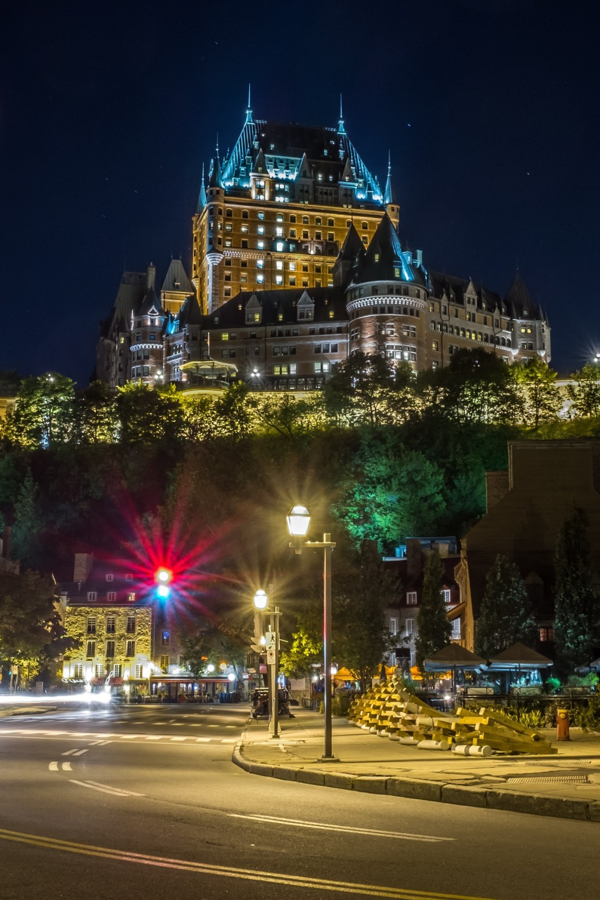 The Château Frontenac, seen from rue Dalhousie