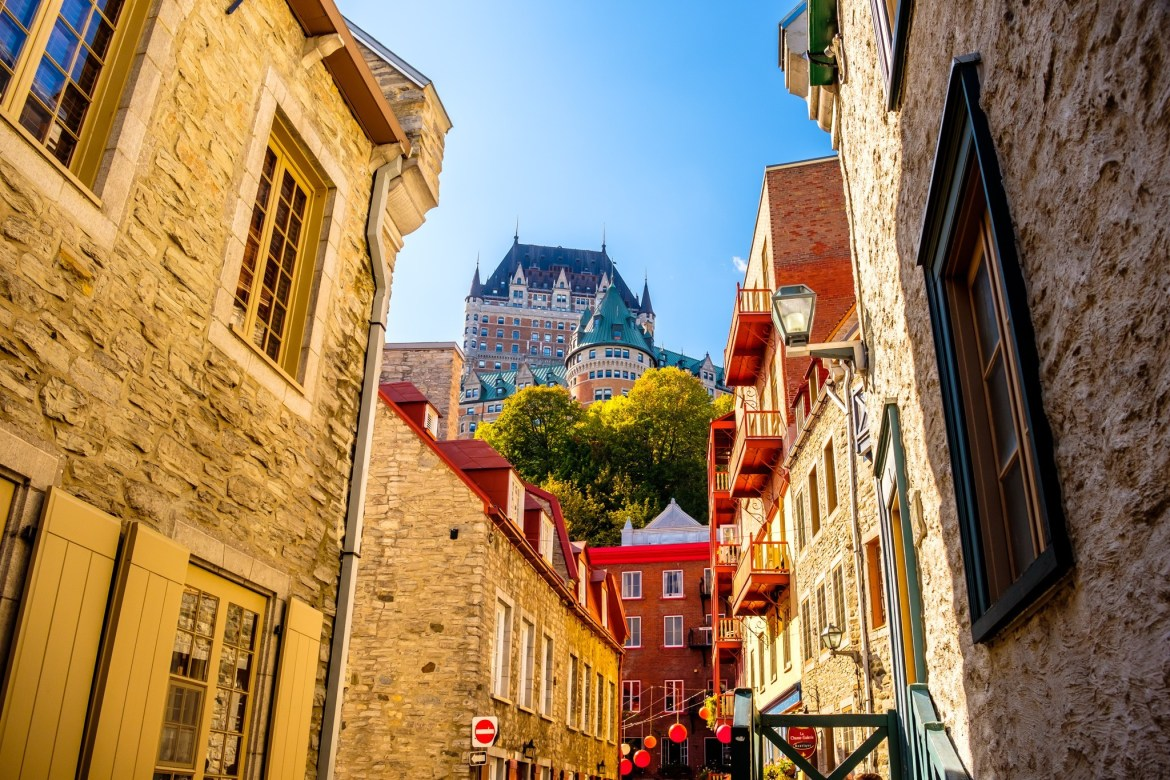 The Château Frontenac, seen from rue Notre-Dame