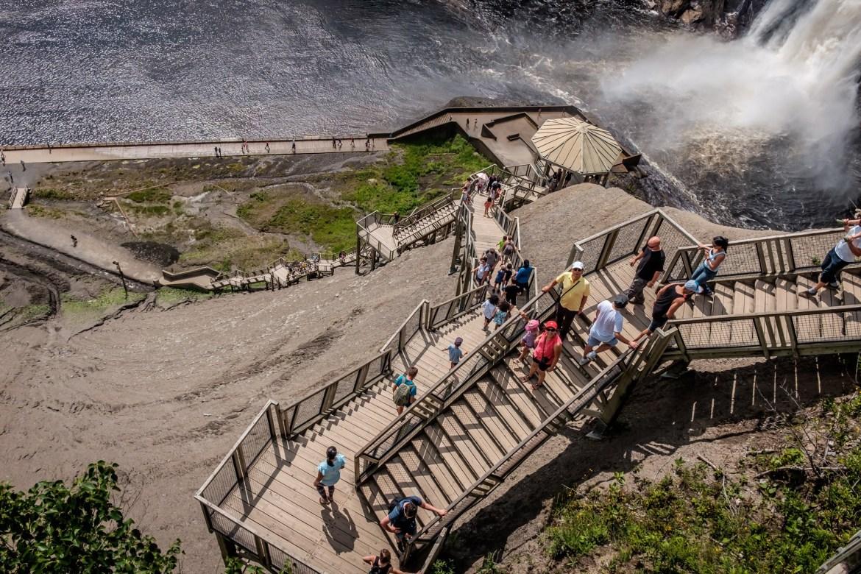 Chute Montmorency - l'escalier