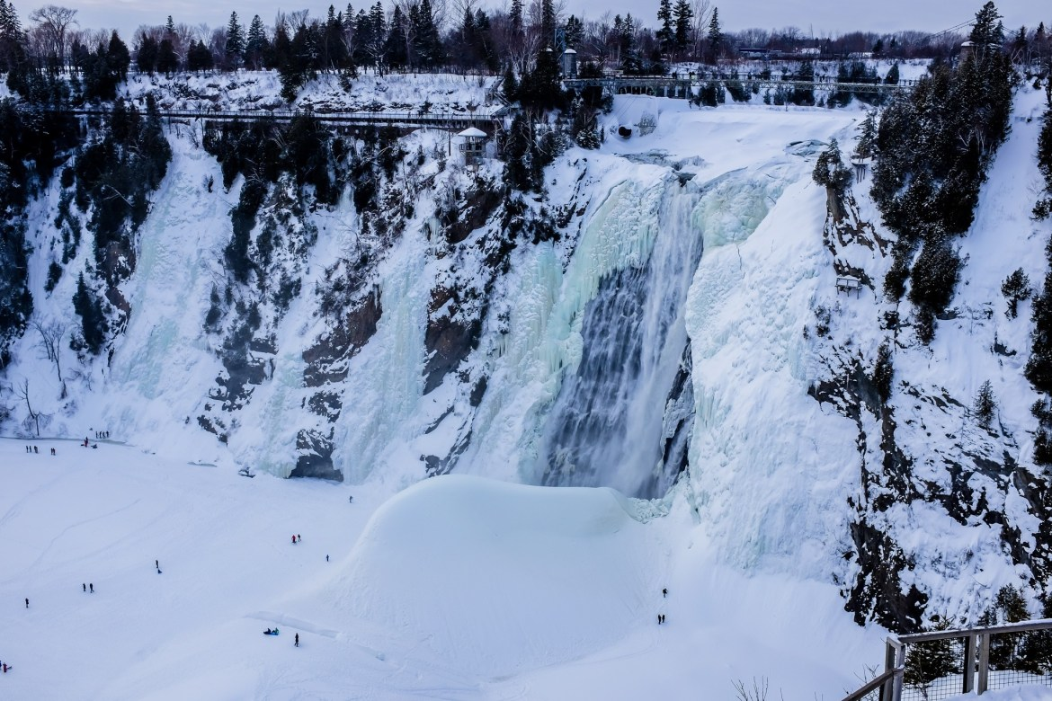 Montmorency Falls during Winter