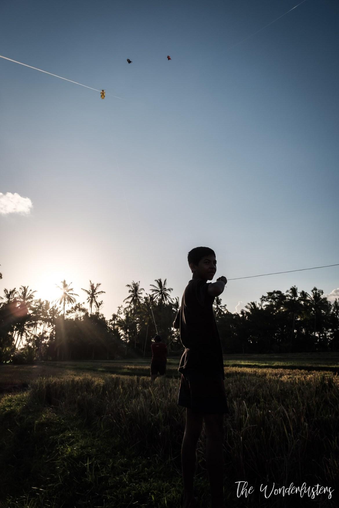 Kite Flying in Ubud