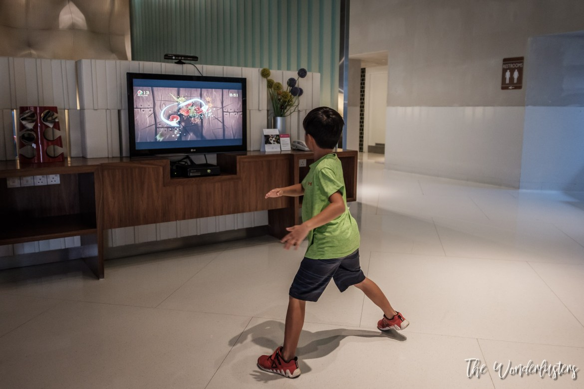 Video games in the lobby of Aloft Kuala Lumpur Sentral