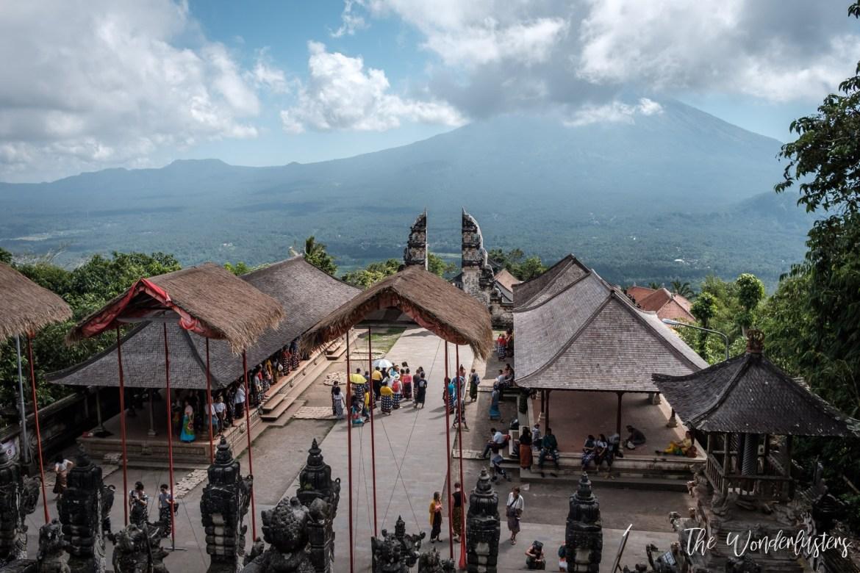 View over Mount Agung from Pura Lempuyang Luhur
