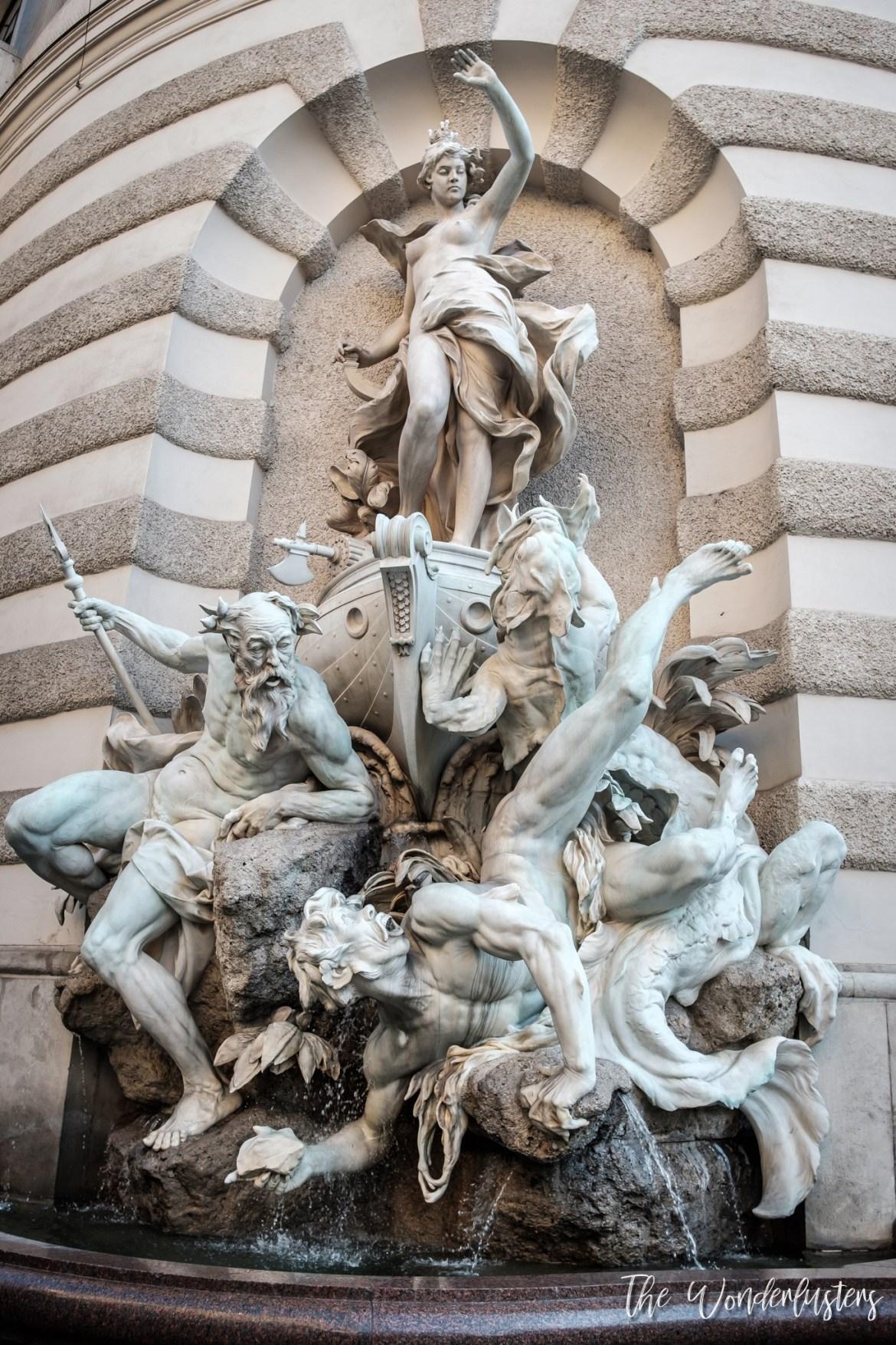 Statue at Hofburg, Vienna