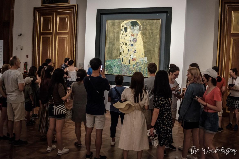 The Kiss from Gustav Klimt, Vienna