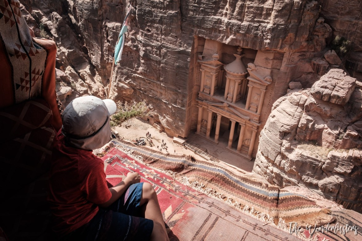 Petra - The Treasury from Above