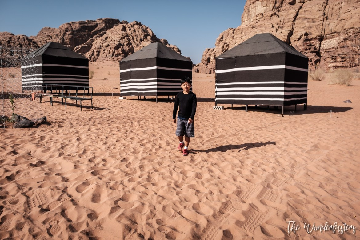 Tents in Wadi Rum