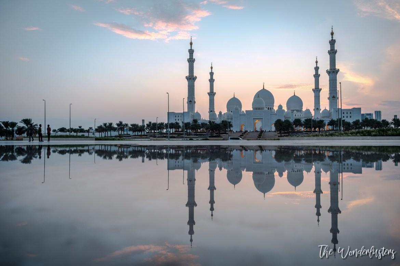 Sheikh Zayed Mosque - Sunset