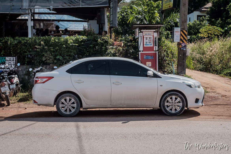 Toyota Vios, our rental car in Phuket