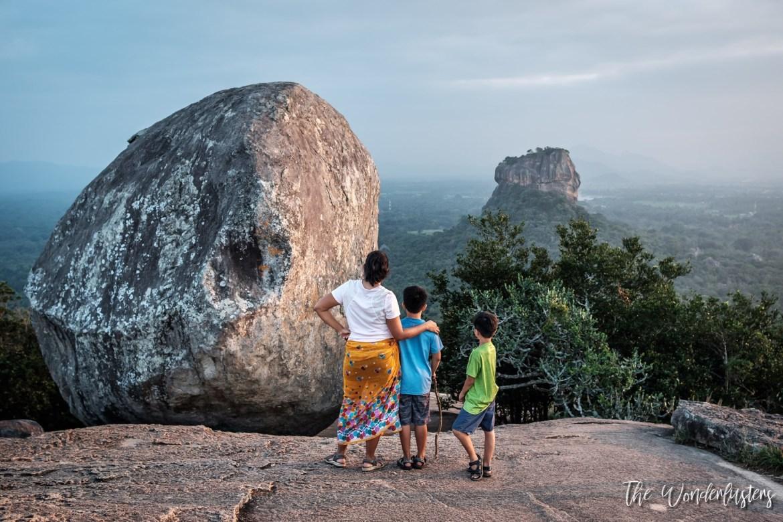 View of Sigiriya Rock from Pidurangala Rock