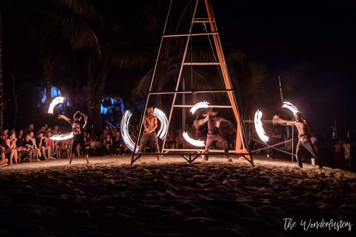 Fire Show at Mele Beach