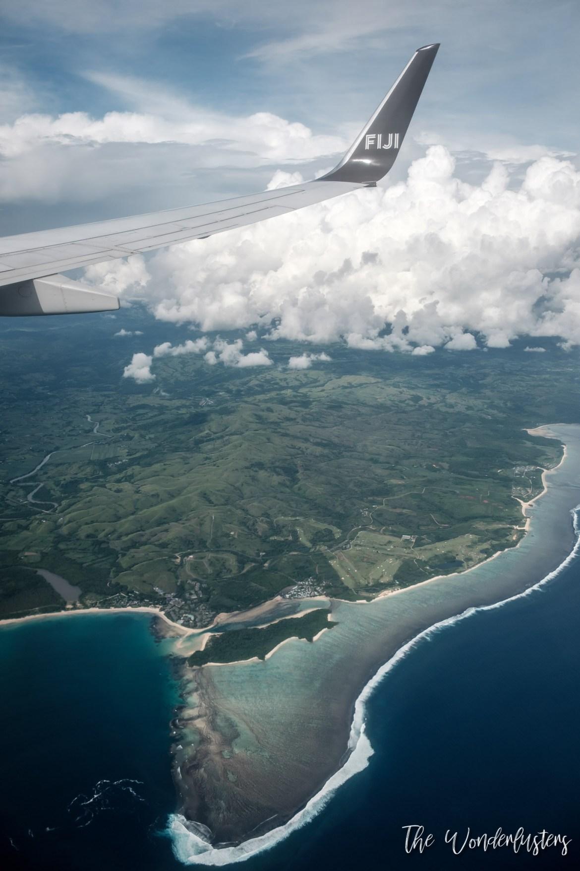 Flying over Fiji