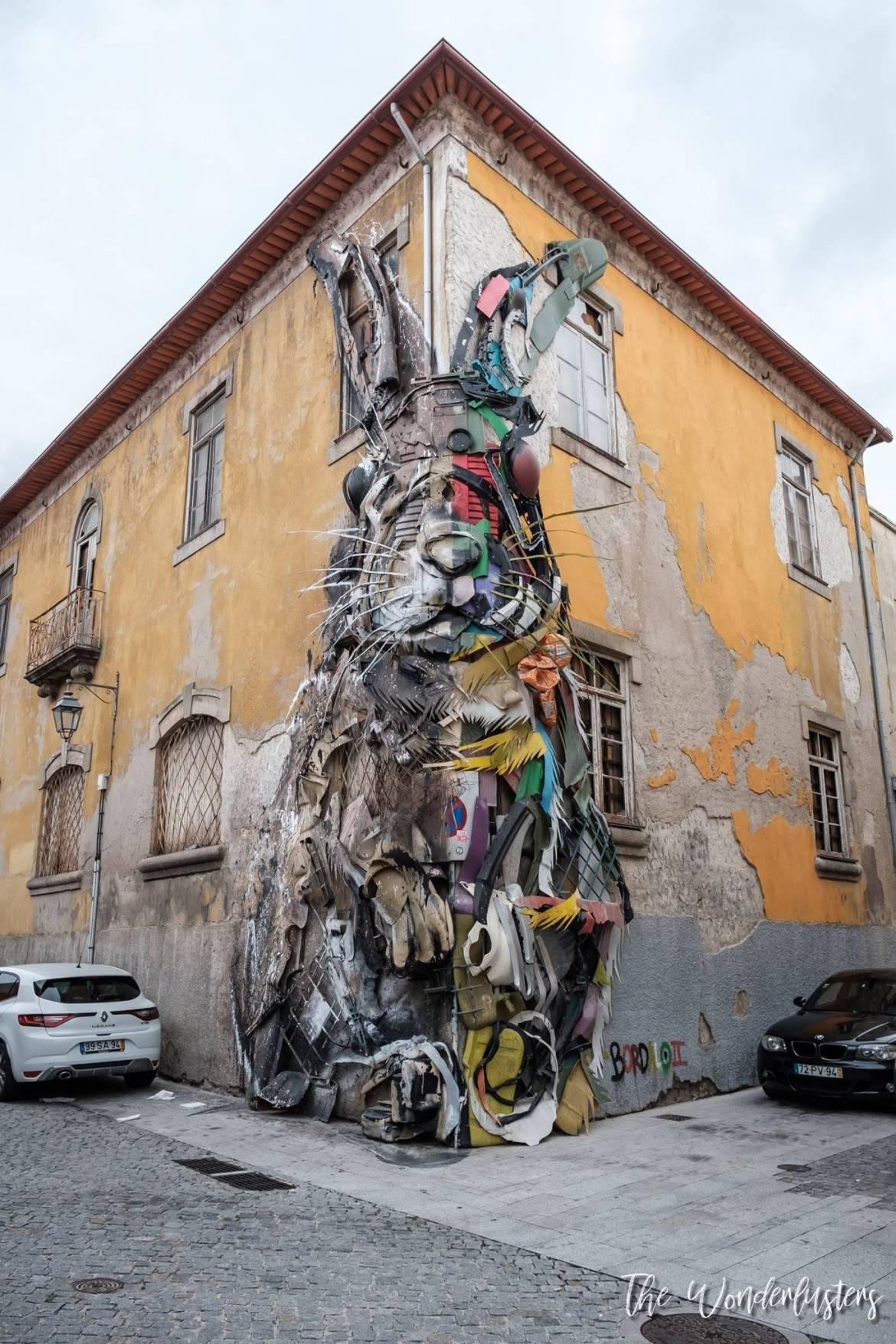 Coelho, arte urbana de Bordalo II