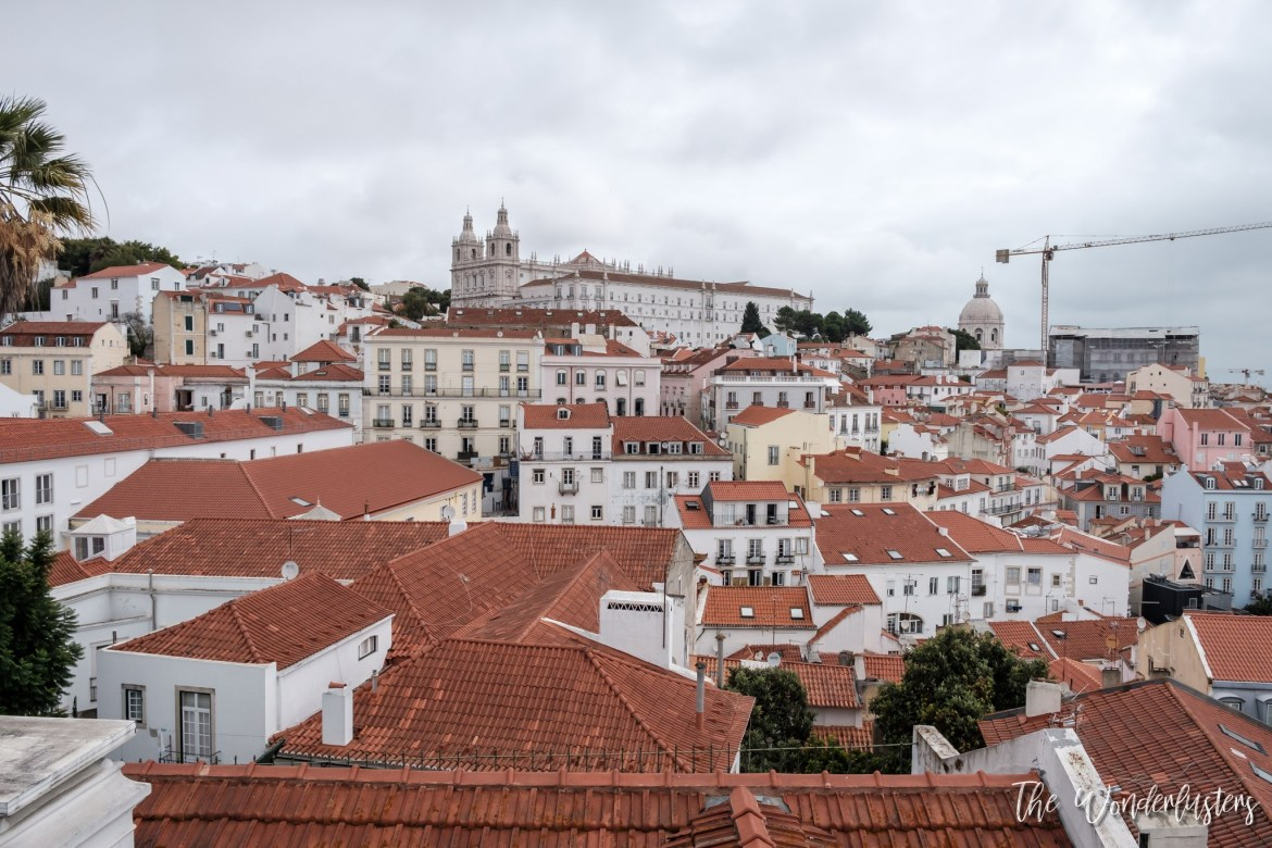 One of many viewpoints in Lisbon