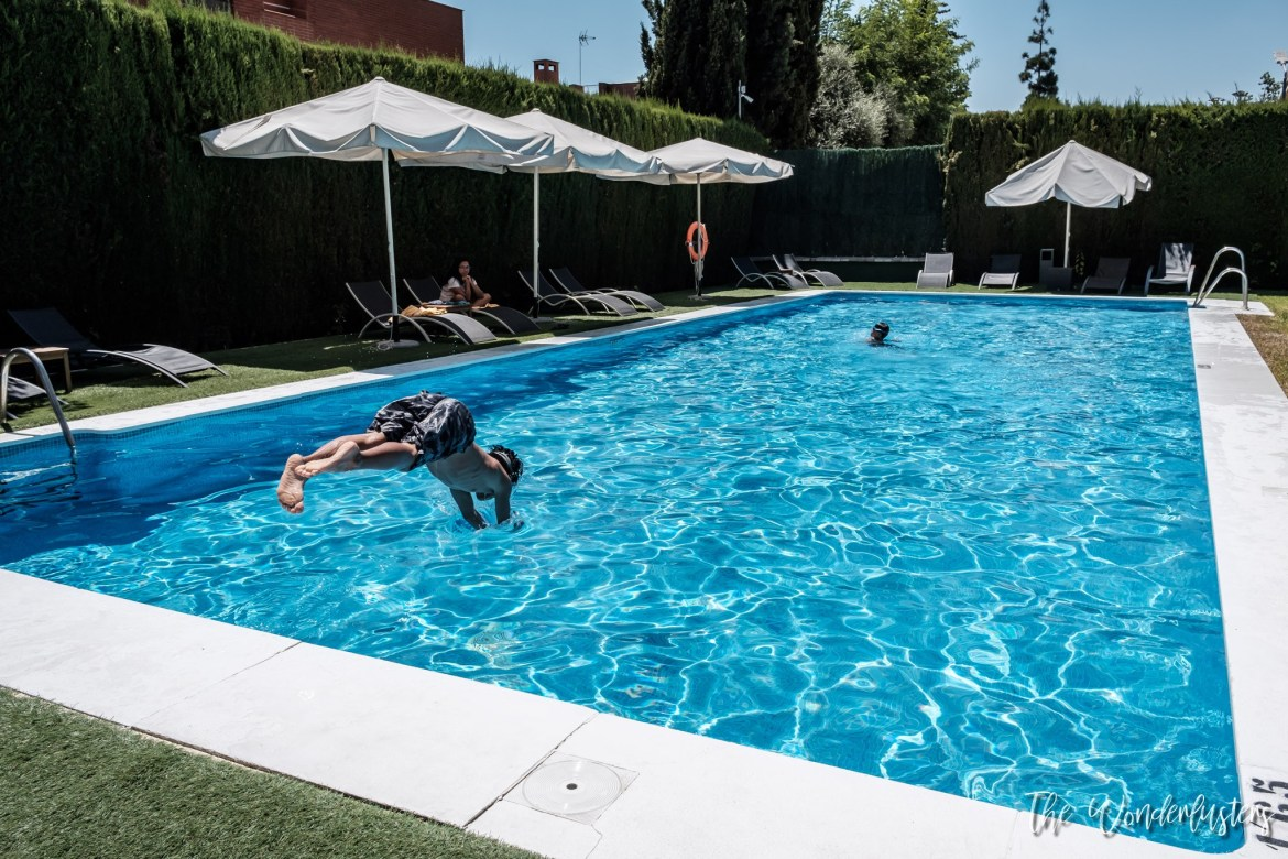 The swimming pool of AC Hotel Sevilla