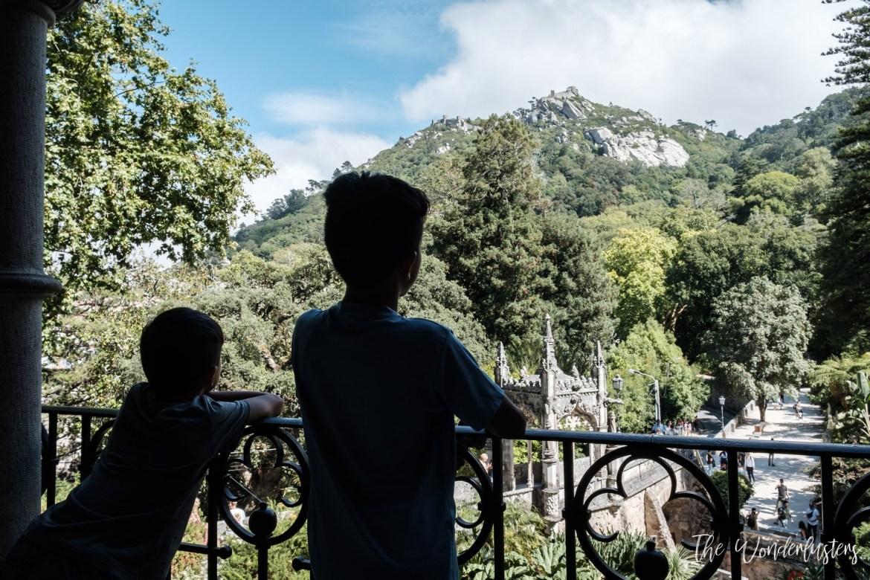 View on the Moorish Castle from Quinta da Regaleira