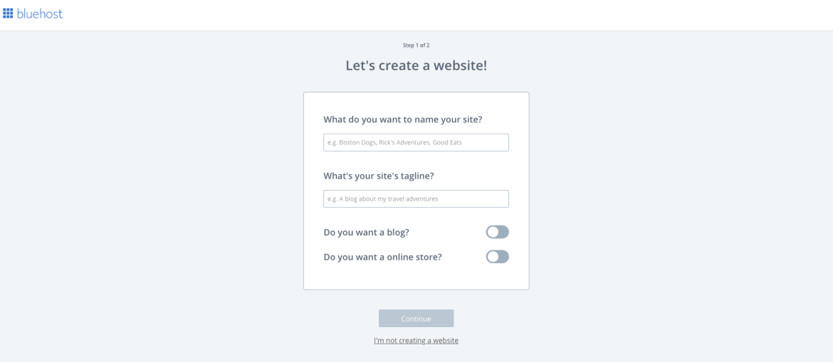 Name your website