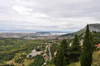 Vue sur la côte croate, split