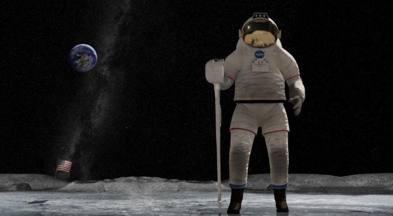 NASA on moon