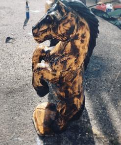 Horse Wood Statue
