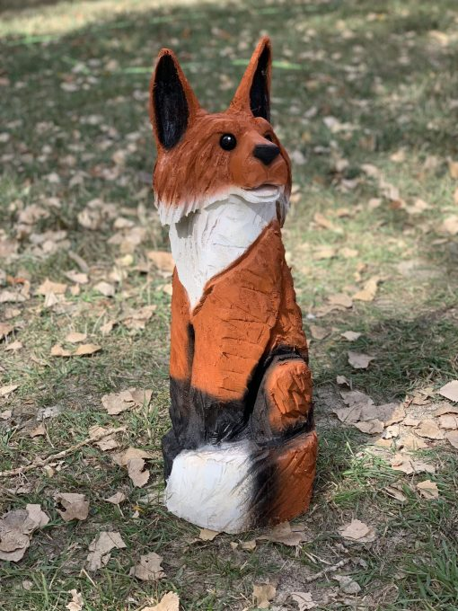 Fox Chainsaw Carving
