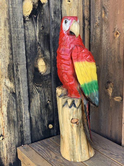 Parrot Chainsaw Carving