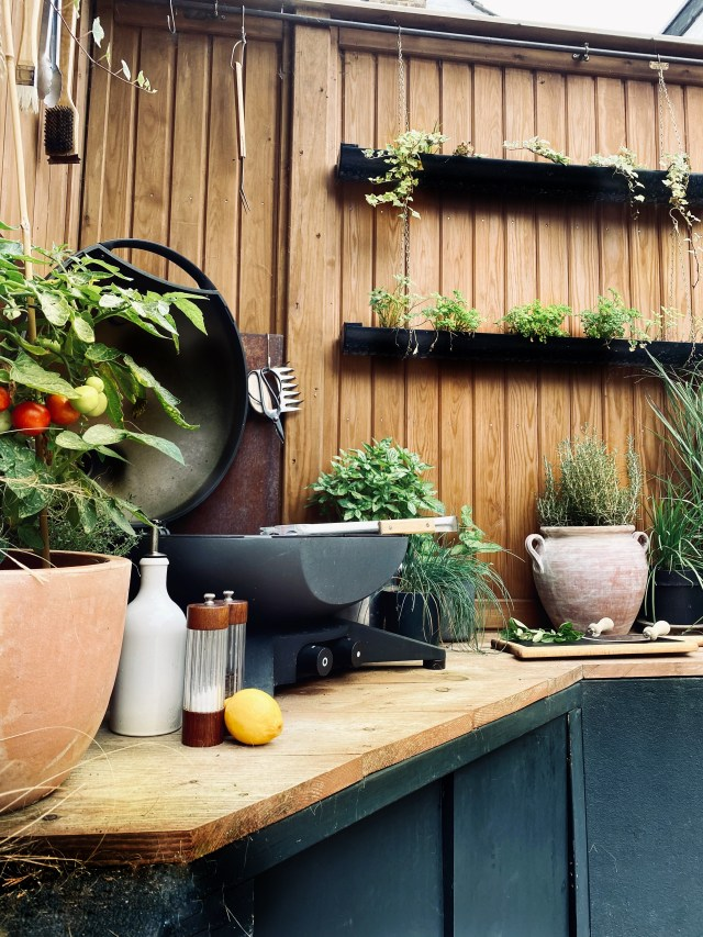 Grow your own herbs in hanging herb planters.