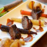 Braised Duck Breast with Roasted Root Vegetables and Red Curry Sauce and Review of The Corner Table