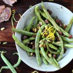 Quick and Easy Blackened Green Beans with Spanish Chorizo, Pine Nuts and Fresh Lemon Zest - thewoodenskillet.com - #sidedish #whattomakewithgreenbeans #healthy #gardenfresh