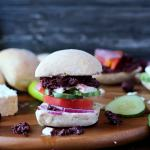 Greek Salad Sandwich with Kalamata Olive Tapenade and Greek Aioli