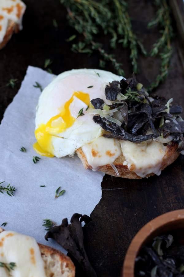 creamy leeks recipe with black trumpet mushrooms