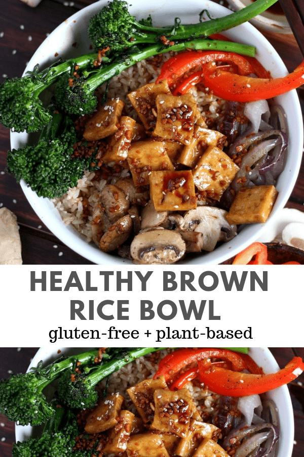 Brown Rice Tofu Bowl