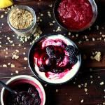 Warm Blackberry Compote + Greek Yogurt and Granola
