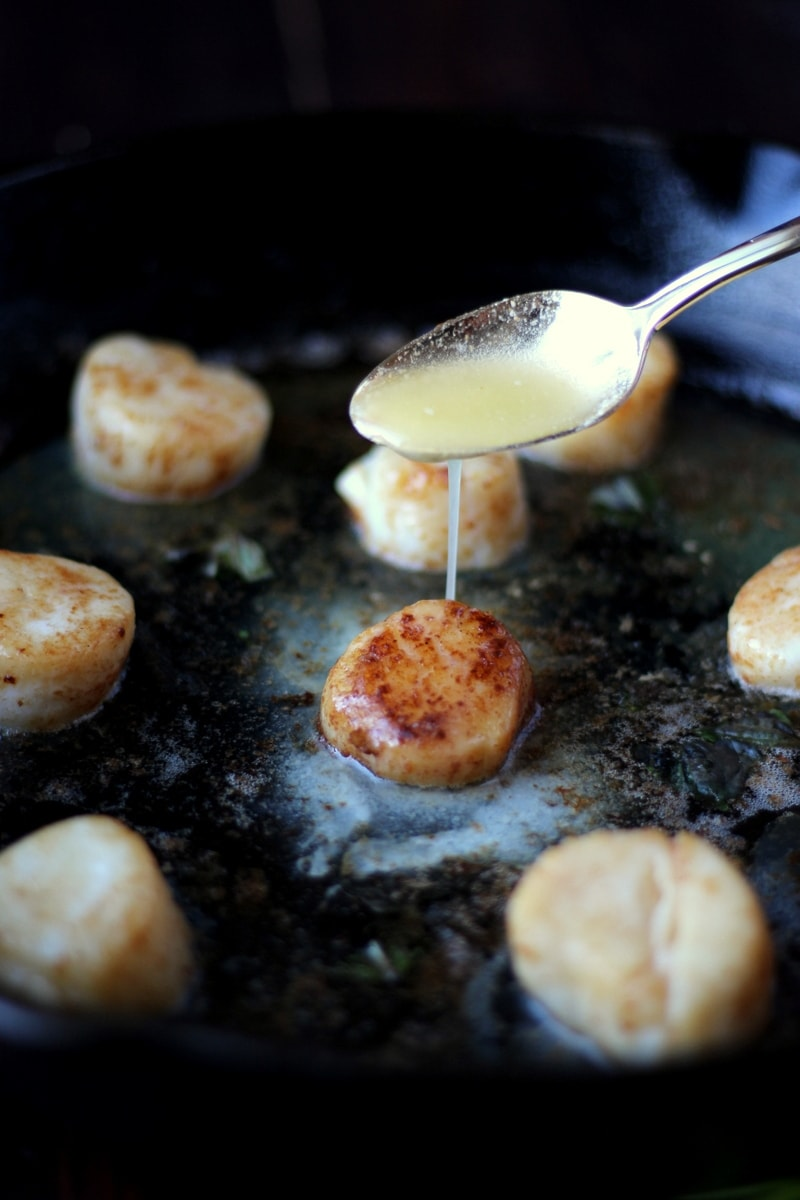 How to cook scallops - the best and easiest recipe for scallops! thewoodenskillet.com