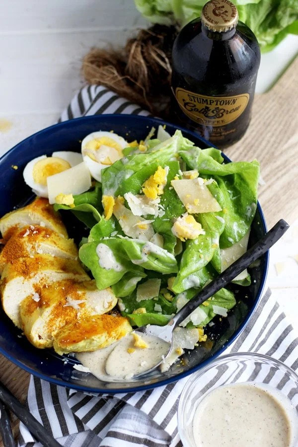 Ghee + Turmeric Chicken Caesar Salad