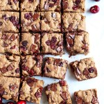 Brown Butter Cherry Chocolate Chunk Cookie Bars