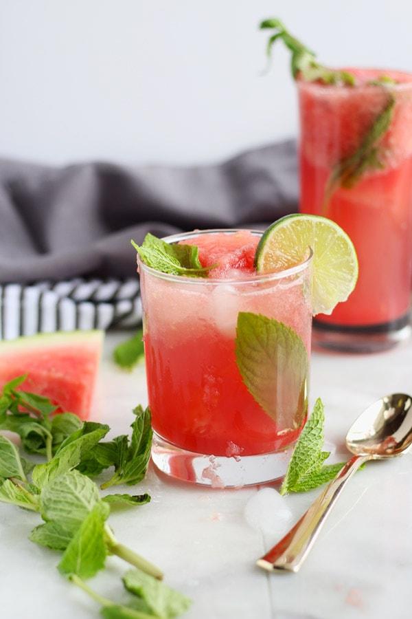 Sweet Watermelon Mint Summer Spritzer - thewoodenskillet.com