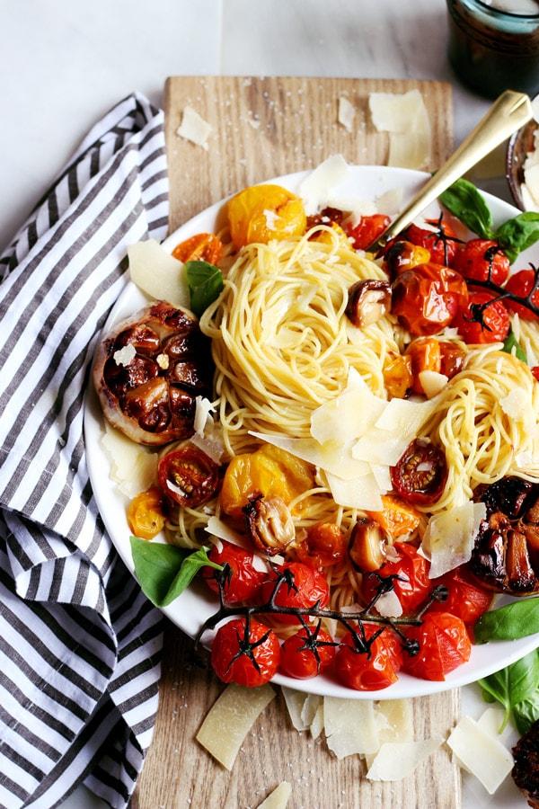 Deconstructed Roasted Garlic + Fresh Basil