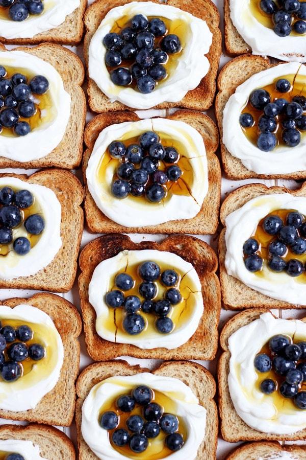 Simple Yogurt Breakfast Toast + Flax and Honey