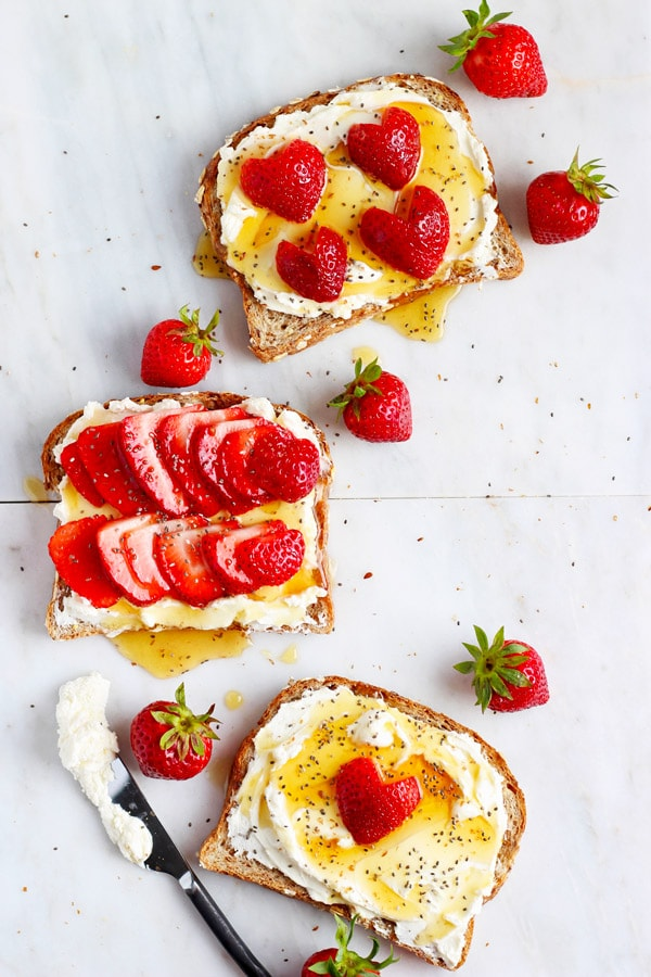 Strawberries and Cream Toast + Chia Seeds