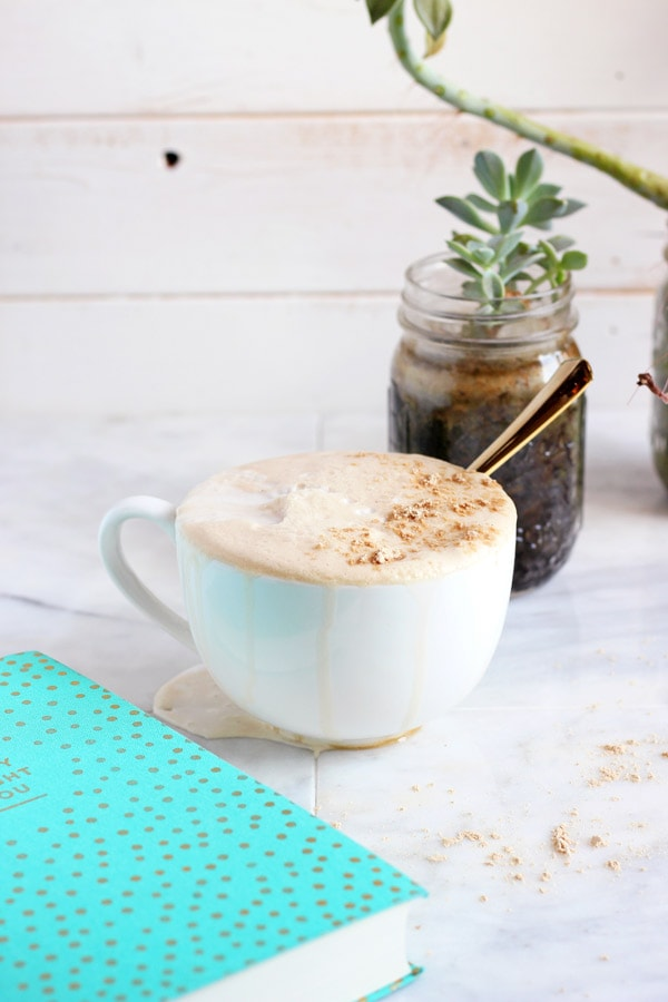 Coconut Cream Cold Brew Latte + Cinnamon and Vanilla is the perfect way to start the day! Vegan and Whole30 compliant! thewoodenskillet.com