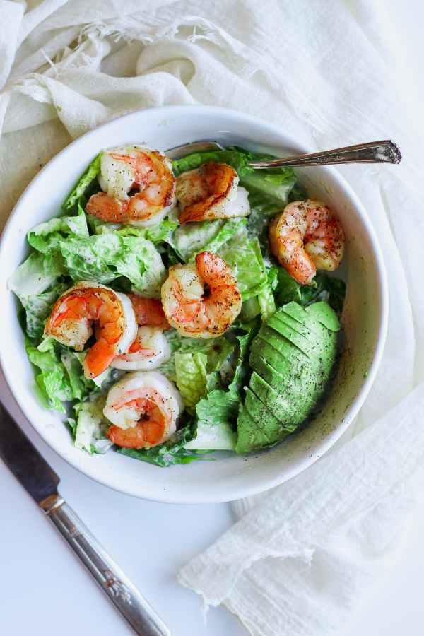 Easy Shrimp Caesar Salad (Whole30)