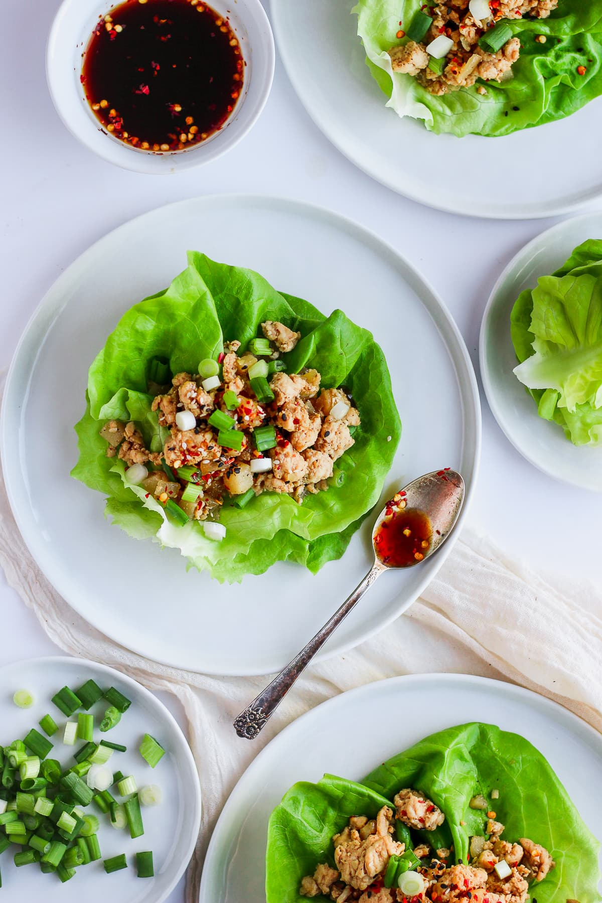 Weeknight Chicken Lettuce Wraps #whole30 #paleo #weeknight