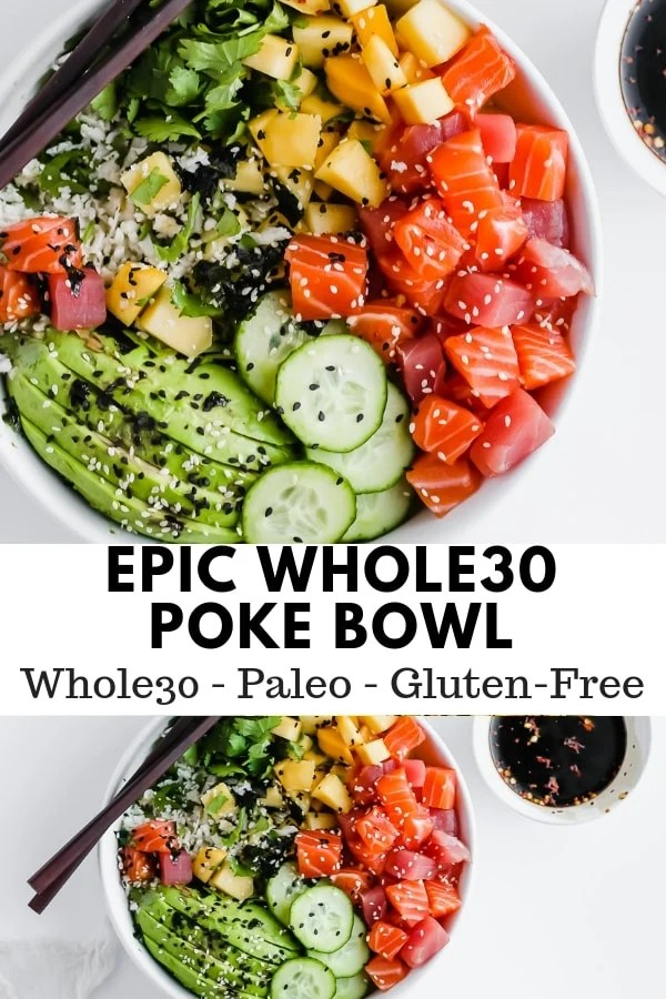 Epic Whole30 Sushi Bowl